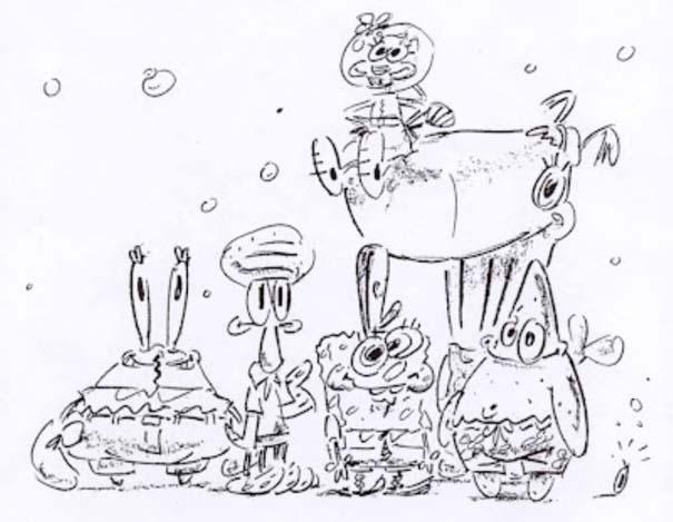 Αρχικά σχέδια διάσημων Cartoon (18)