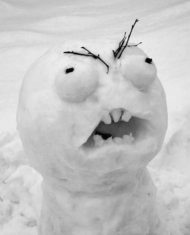 Αστείοι και δημιουργικοί χιονάνθρωποι (2)