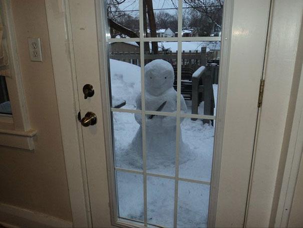 Αστείοι και δημιουργικοί χιονάνθρωποι (3)