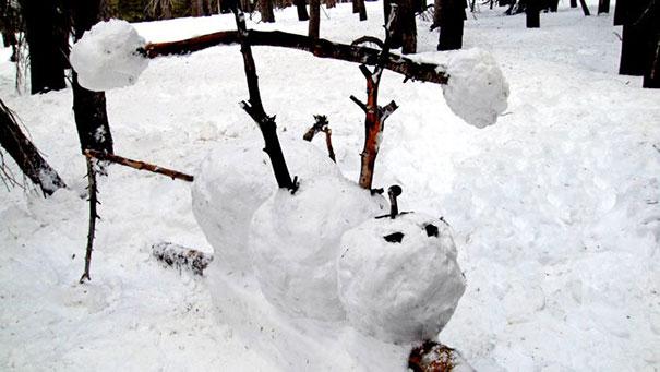 Αστείοι και δημιουργικοί χιονάνθρωποι (4)