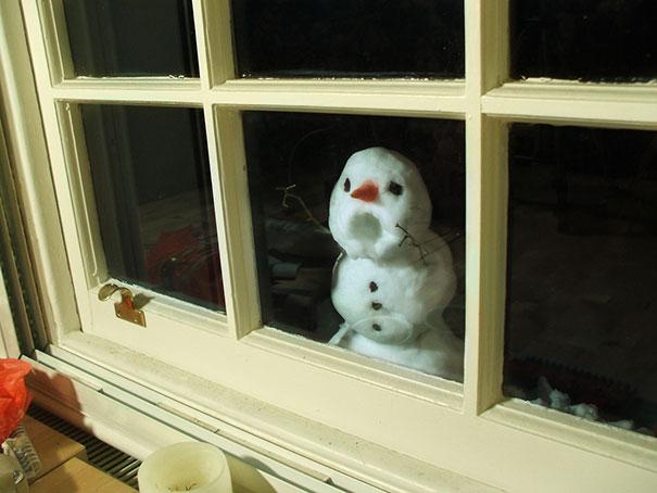 Αστείοι και δημιουργικοί χιονάνθρωποι (5)
