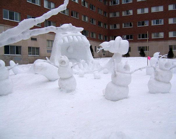Αστείοι και δημιουργικοί χιονάνθρωποι (7)