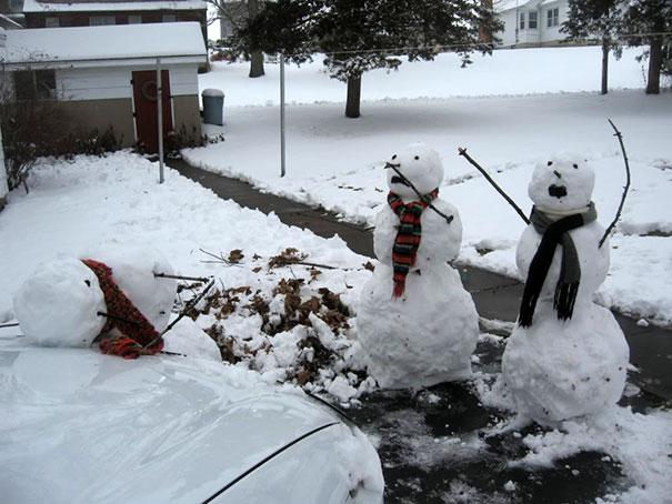 Αστείοι και δημιουργικοί χιονάνθρωποι (8)