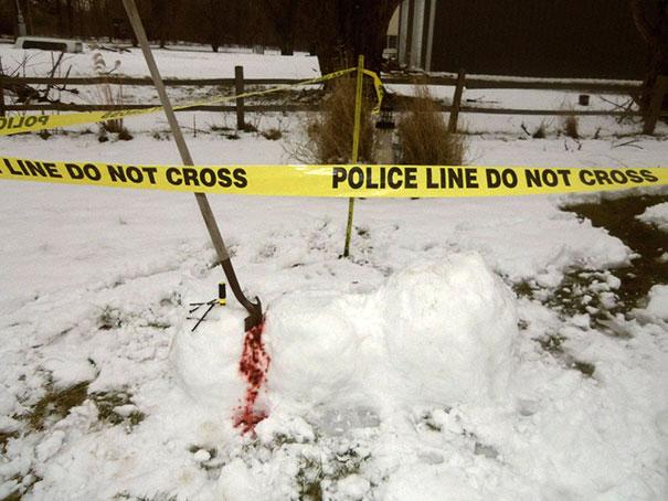 Αστείοι και δημιουργικοί χιονάνθρωποι (9)