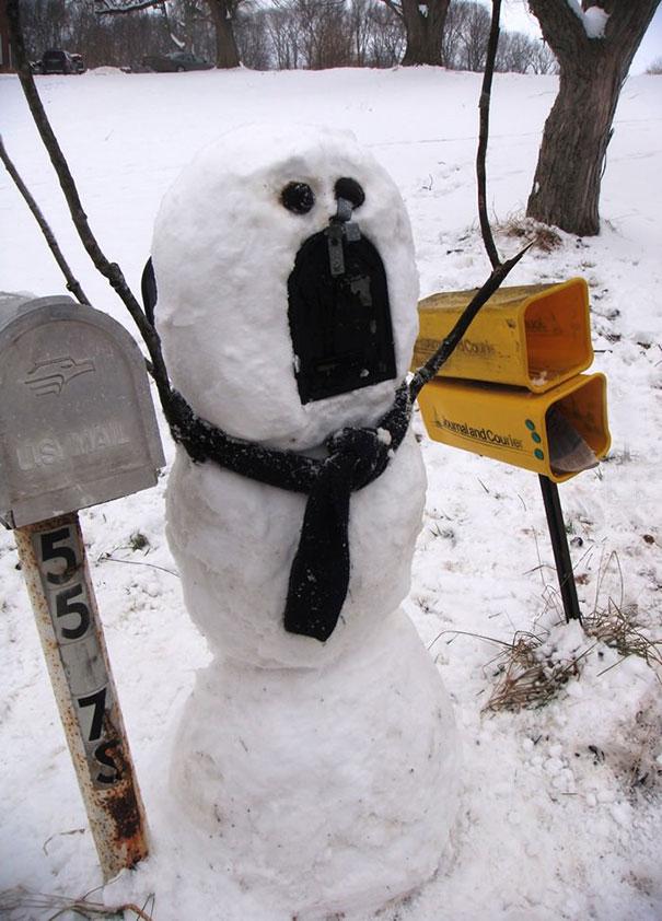 Αστείοι και δημιουργικοί χιονάνθρωποι (12)