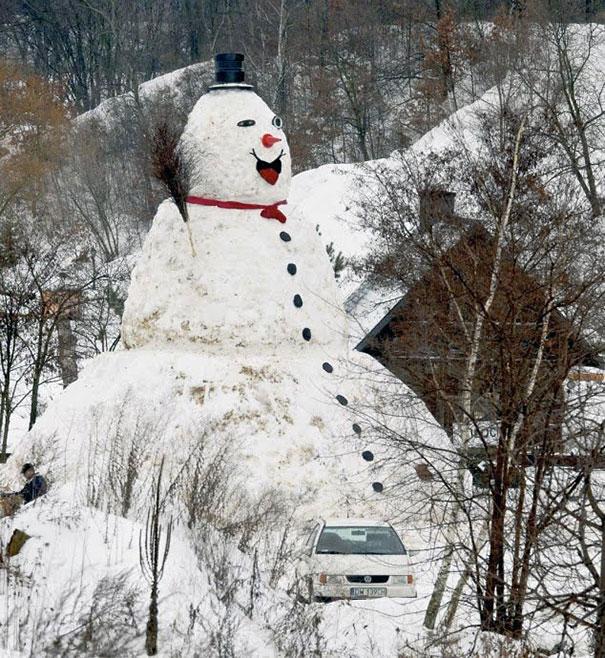 Αστείοι και δημιουργικοί χιονάνθρωποι (13)