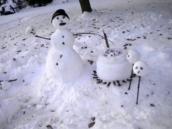 Αστείοι και δημιουργικοί χιονάνθρωποι (14)