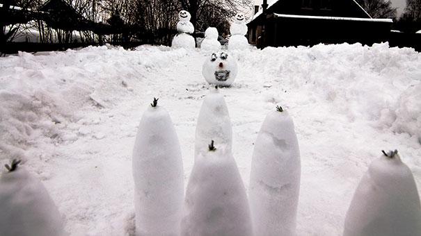 Αστείοι και δημιουργικοί χιονάνθρωποι (16)