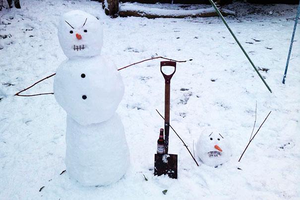 Αστείοι και δημιουργικοί χιονάνθρωποι (18)