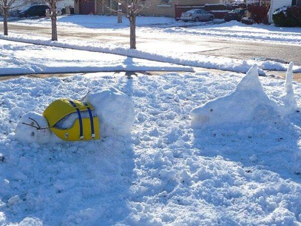 Αστείοι και δημιουργικοί χιονάνθρωποι (20)