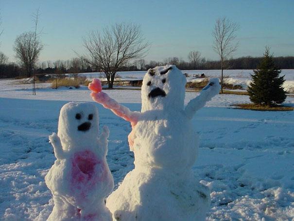 Αστείοι και δημιουργικοί χιονάνθρωποι (21)