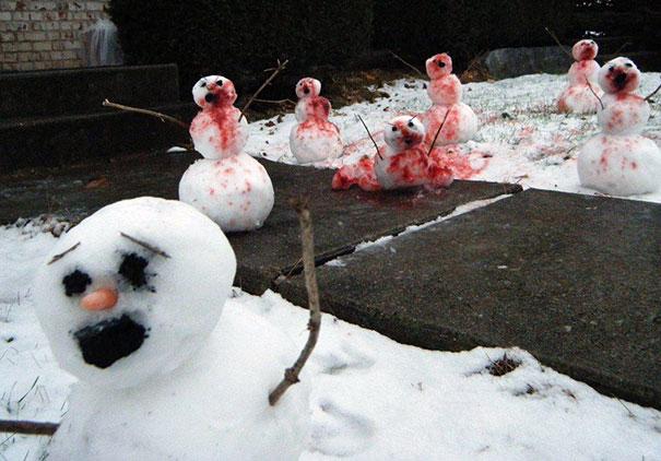 Αστείοι και δημιουργικοί χιονάνθρωποι (24)