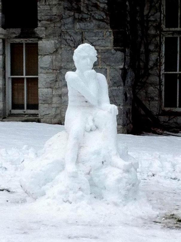 Αστείοι και δημιουργικοί χιονάνθρωποι (26)