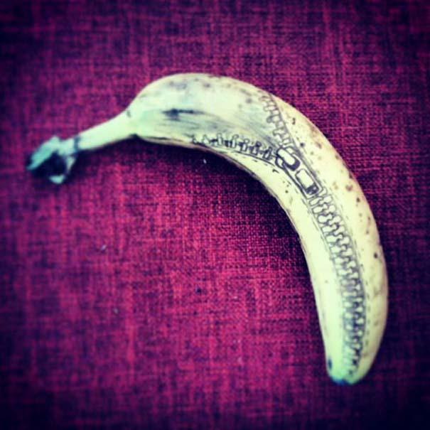 Δημιουργικός μπαμπάς σχεδιάζει πάνω σε μπανάνες (8)