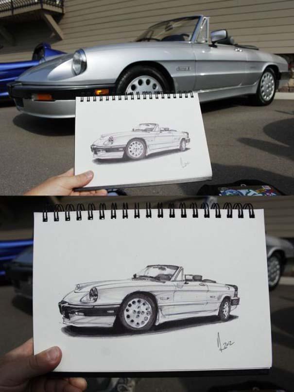 Εκπληκτικά σκίτσα αυτοκινήτων (14)