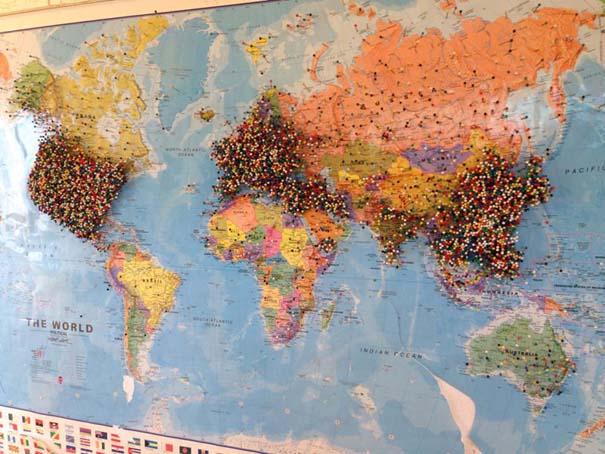 Εστιατόριο ζητάει από τους πελάτες του να βάζουν μια πινέζα στο σημείο του χάρτη απ' όπου έρχονται (3)