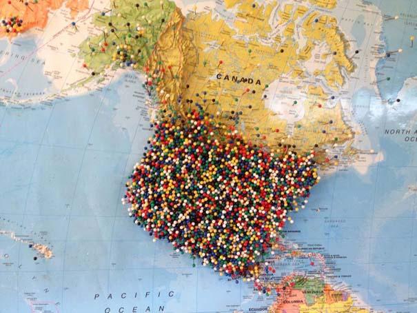 Εστιατόριο ζητάει από τους πελάτες του να βάζουν μια πινέζα στο σημείο του χάρτη απ' όπου έρχονται (4)