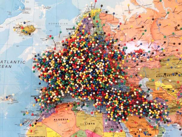 Εστιατόριο ζητάει από τους πελάτες του να βάζουν μια πινέζα στο σημείο του χάρτη απ' όπου έρχονται (5)