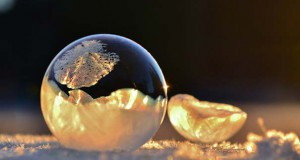 Φούσκες στους -9 βαθμούς Κελσίου μετατρέπονται σε μοναδικά γλυπτά