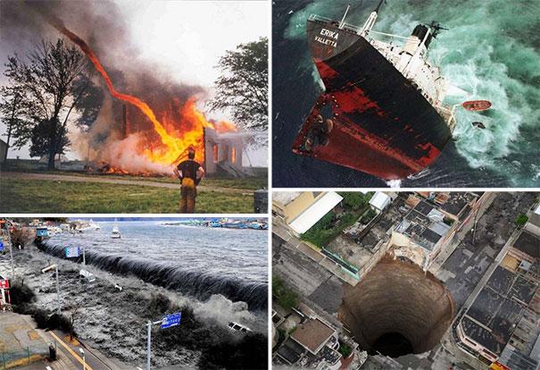 Συγκλονιστικές φωτογραφίες από καταστροφές μεγάλων διαστάσεων