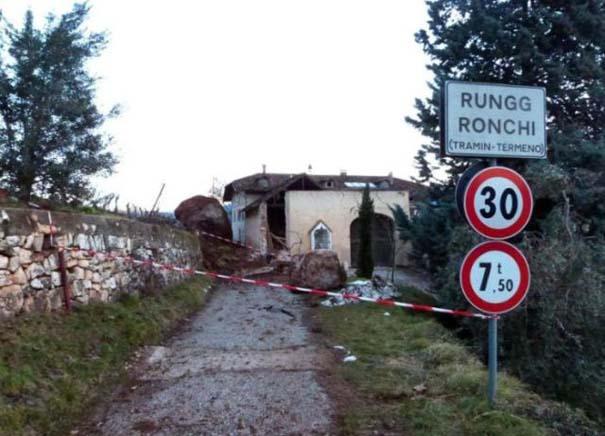Γιγάντιος βράχος έσπειρε την καταστροφή στο διάβα του (2)