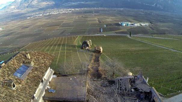 Γιγάντιος βράχος έσπειρε την καταστροφή στο διάβα του (5)