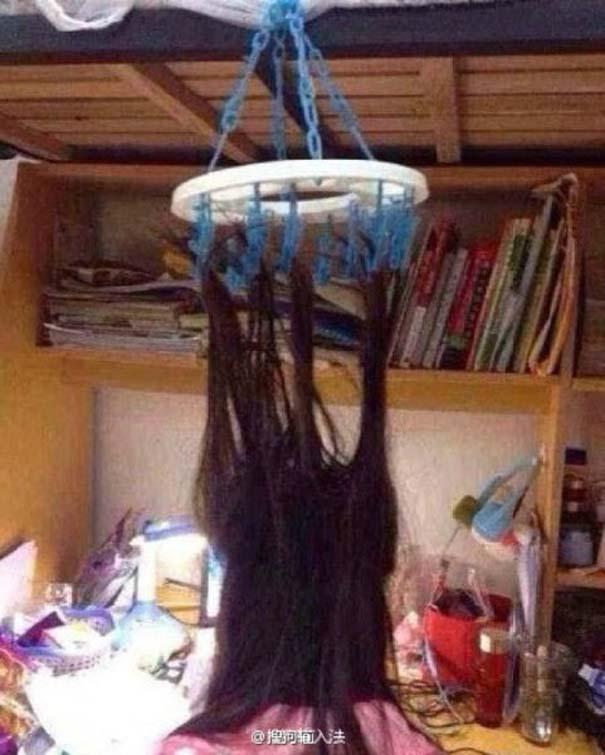 Κινέζοι φοιτητές βρήκαν έναν πολύ περίεργο τρόπο για να παραμένουν ξύπνιοι όταν διαβάζουν (6)