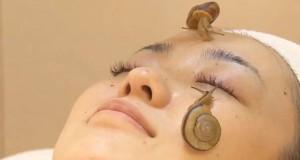 Μασάζ προσώπου με σαλιγκάρια (Video)