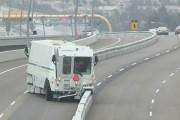 Το μηχάνημα που μετακινεί τις έξτρα λωρίδες στους δρόμους