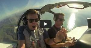 Πιλότος πήρε τον υψοφοβικό φίλο του για μια βόλτα με μικρό αεροπλάνο (Video)