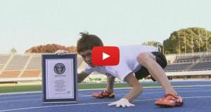 Ο πιο γρήγορος άνθρωπος στον κόσμο στο τρέξιμο με τα τέσσερα (Video)