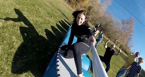 Surfing πάνω σε βαρέλια (Video)