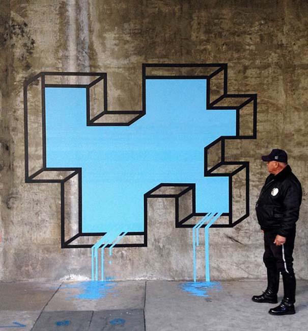 Τέχνη του δρόμου και γεωμετρικές οφθαλμαπάτες (1)