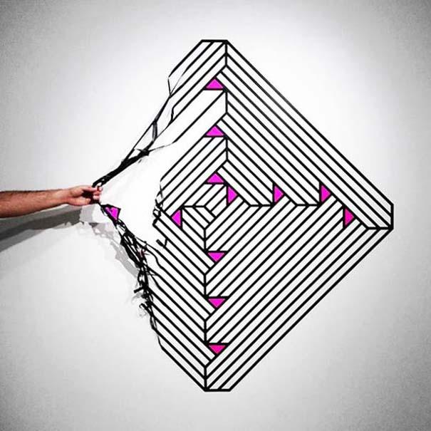 Τέχνη του δρόμου και γεωμετρικές οφθαλμαπάτες (8)