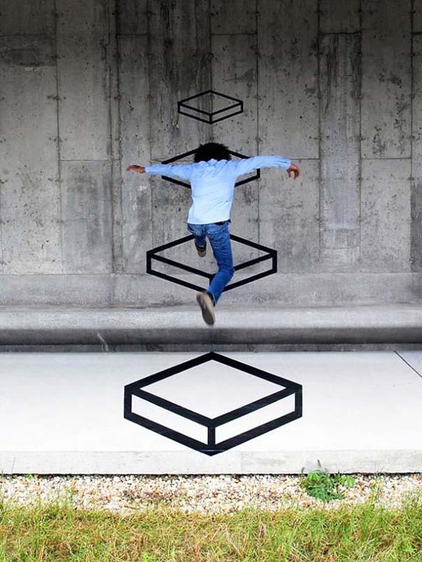 Τέχνη του δρόμου και γεωμετρικές οφθαλμαπάτες (11)