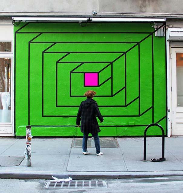 Τέχνη του δρόμου και γεωμετρικές οφθαλμαπάτες (13)