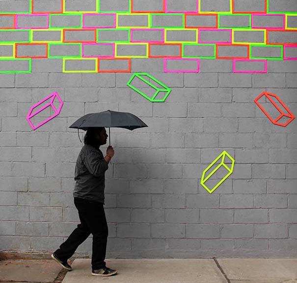 Τέχνη του δρόμου και γεωμετρικές οφθαλμαπάτες (15)