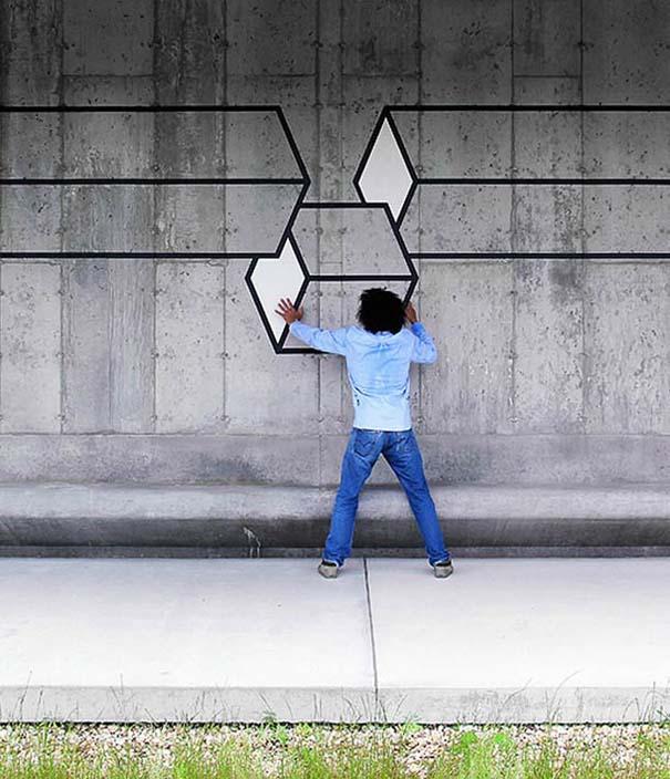 Τέχνη του δρόμου και γεωμετρικές οφθαλμαπάτες (20)