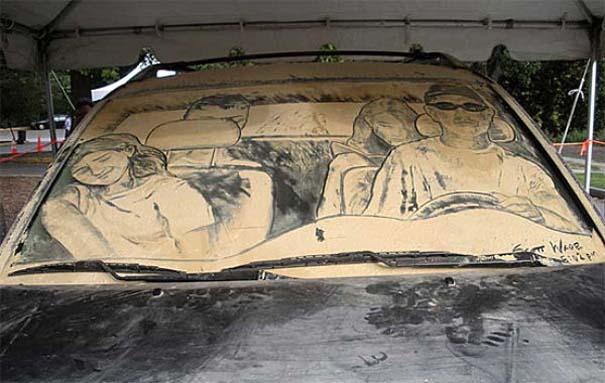 Τέχνη σε σκονισμένα αυτοκίνητα (3)