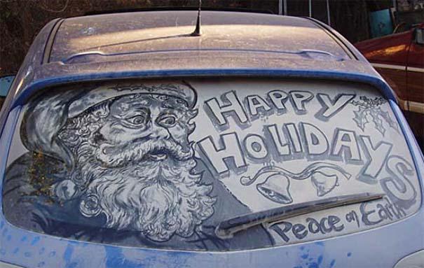 Τέχνη σε σκονισμένα αυτοκίνητα (4)