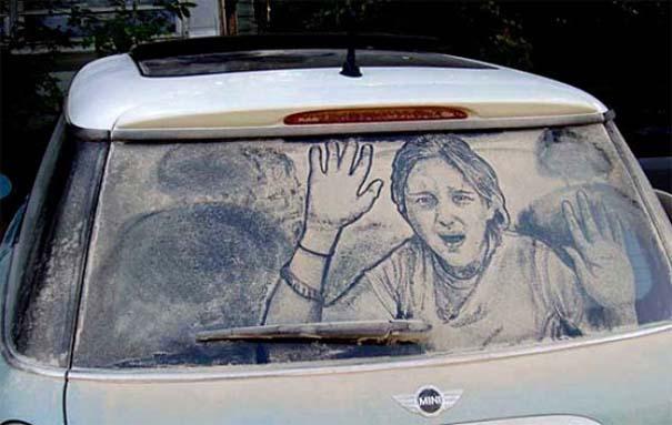 Τέχνη σε σκονισμένα αυτοκίνητα (5)