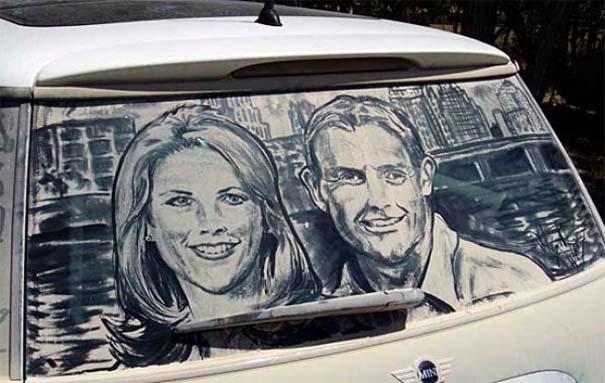 Τέχνη σε σκονισμένα αυτοκίνητα (6)