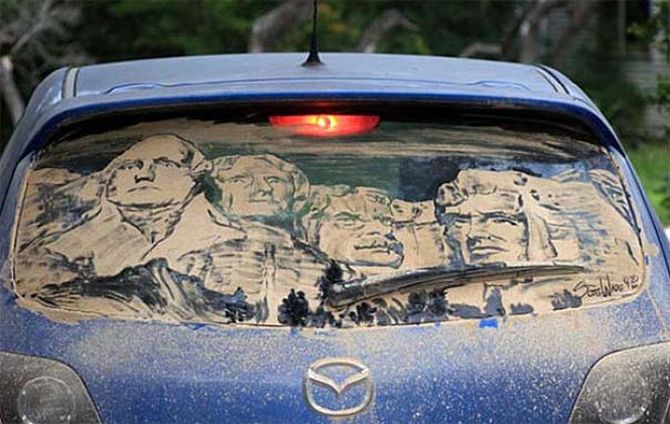 Τέχνη σε σκονισμένα αυτοκίνητα (11)