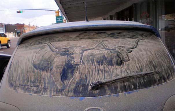 Τέχνη σε σκονισμένα αυτοκίνητα (13)