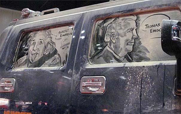 Τέχνη σε σκονισμένα αυτοκίνητα (14)