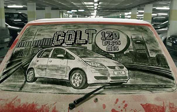 Τέχνη σε σκονισμένα αυτοκίνητα (15)