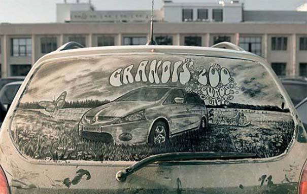 Τέχνη σε σκονισμένα αυτοκίνητα (17)