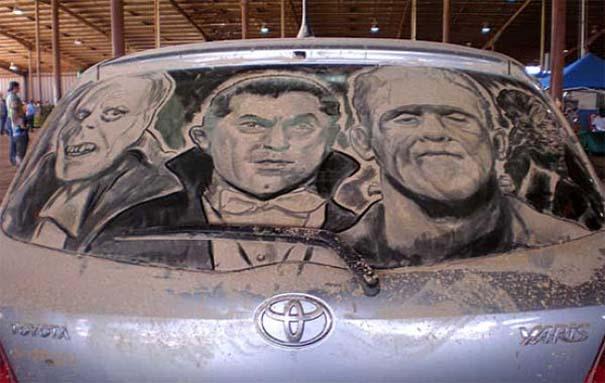 Τέχνη σε σκονισμένα αυτοκίνητα (18)