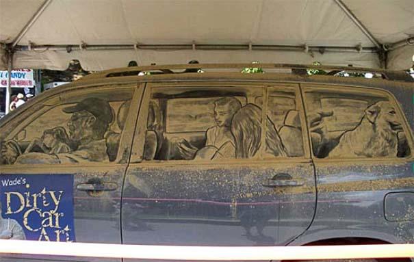Τέχνη σε σκονισμένα αυτοκίνητα (19)