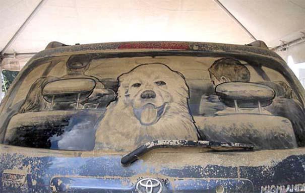Τέχνη σε σκονισμένα αυτοκίνητα (20)